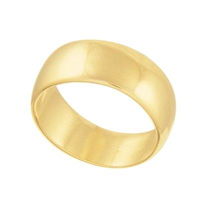 Anel Aliança Banhada a Ouro 18k.