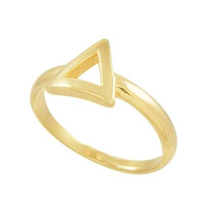 Anel Falange / Infantil Triângulo Banhado a Ouro 18k.