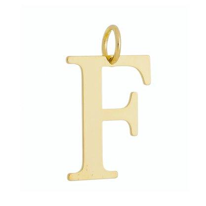 Pingente Letra F Banhado no Ouro 18k.