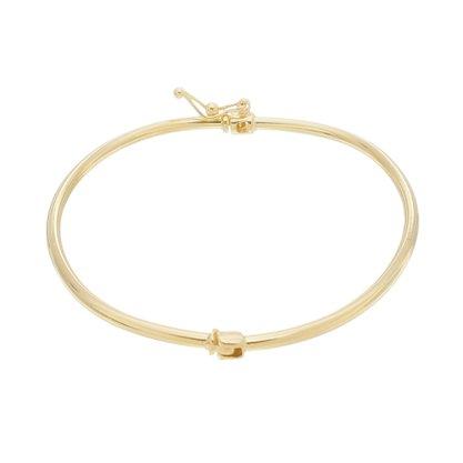 Bracelete Liso Banhado a Ouro 18k.