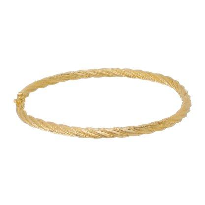 Bracelete Trançado Banhado a Ouro 18k.