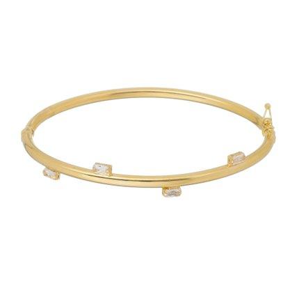 Bracelete Zircônia Banhado a Ouro 18k.