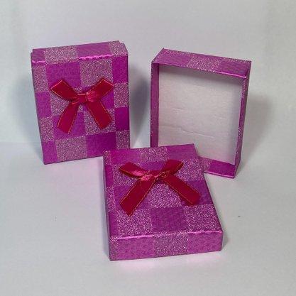 Caixinha Presente Grande Rosa Glitter 1und.