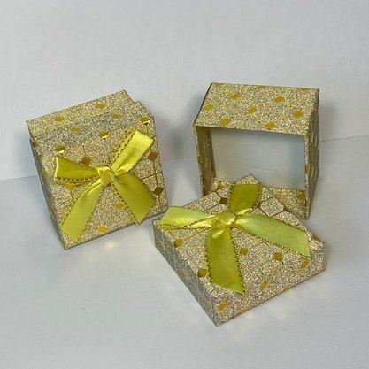 Caixinha Presente Pequena Glitter Amarela 1und.
