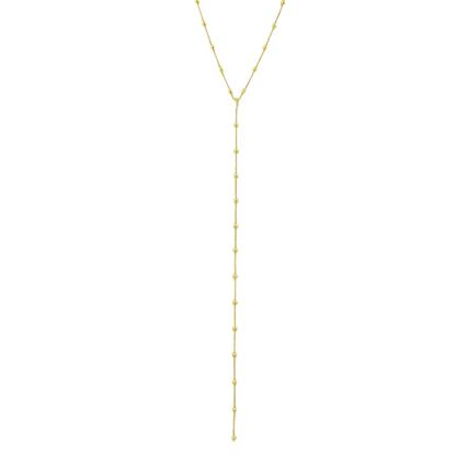Colar Gravatinha Bolinha Banhado a Ouro 18k.