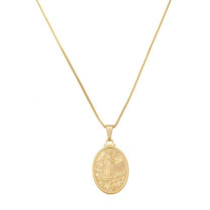 Gargantilha Nossa Senhora de Fatima Banhada a Ouro 18k.