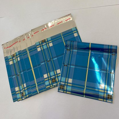 Kit Papel de Presente Azul Pequeno 10und.