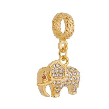 Pingente Berloque Elefante Banhado a Ouro 18k.