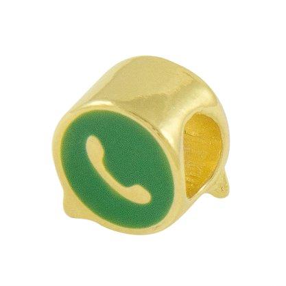 Pingente Berloque Whatsapp Banhado Ouro 18k.