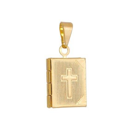 Relicário Bíblia P Banhado a Ouro 18k.
