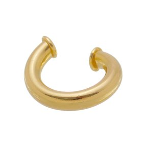Brinco Piercing Fake Banhado a Ouro 18k.