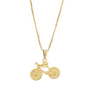 Gargantilha Bicicleta Banhada a Ouro 18k.