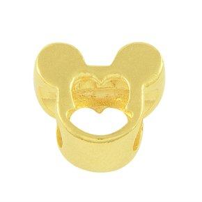 Pingente Berloque Mickey Banhado a Ouro 18k.