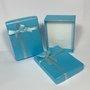 Caixinha Presente Grande Lisa Laço Azul 1und.