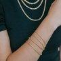 Pulseira Cordão Baiano 2,5mm Banhado a Ouro 18k.